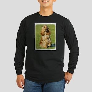 Cocker Spaniel 9P055D-057 Long Sleeve Dark T-Shirt