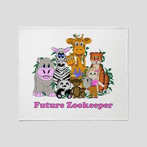 Future Zookeeper Girl Throw Blanket
