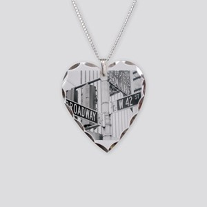 NY Broadway Times Square - Necklace Heart Charm