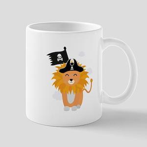 Lion Pirate Captain C1p85 Mugs
