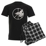 Peace Sign & Dove Men's Dark Pajamas