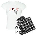 Love Peace V Women's Light Pajamas