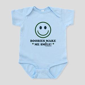 Boobies Make Me Smile Body Suit