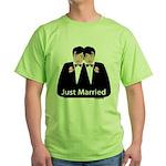 Gay Wedding Green T-Shirt