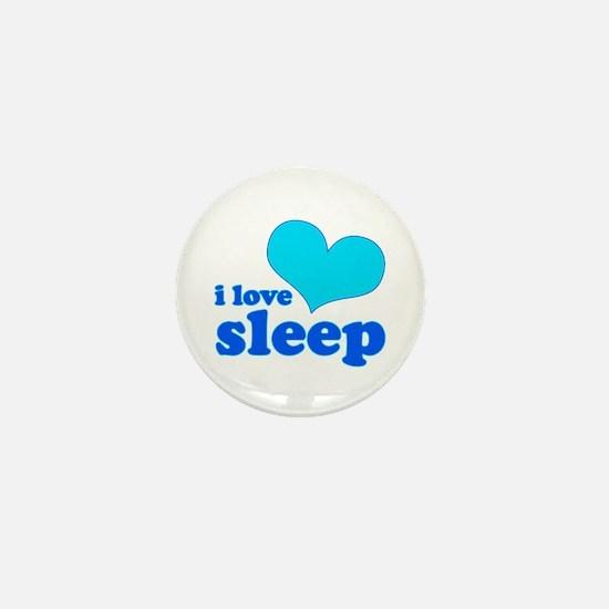 I Love Sleep (blue) Mini Button