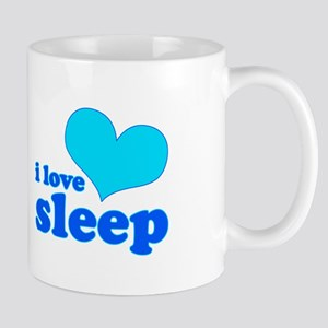 I Love Sleep (blue) Mug