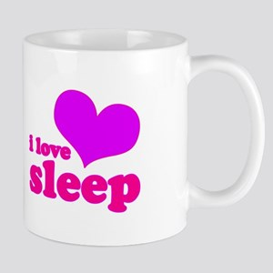 I Love Sleep (pink) Mug