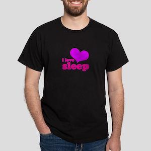 I Love Sleep (pink) Dark T-Shirt