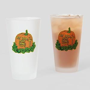 LET YOUR LIGHT SHINE (Pumpkin Drinking Glass