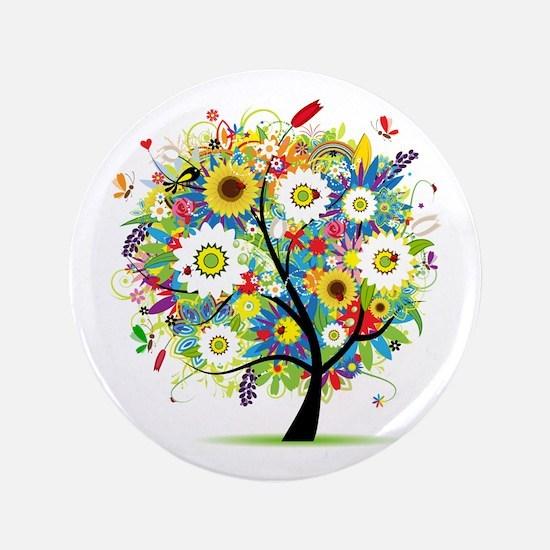 "summer tree 3.5"" Button"