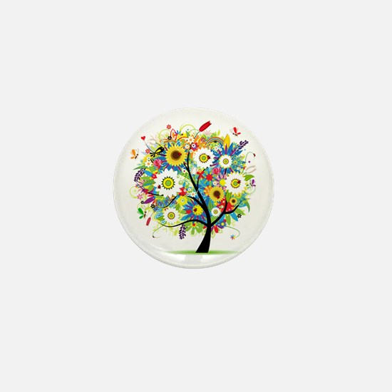 summer tree Mini Button
