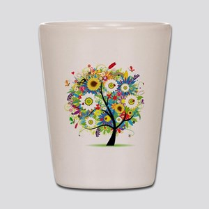summer tree Shot Glass