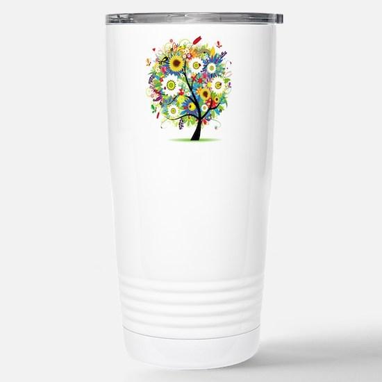 summer tree Stainless Steel Travel Mug