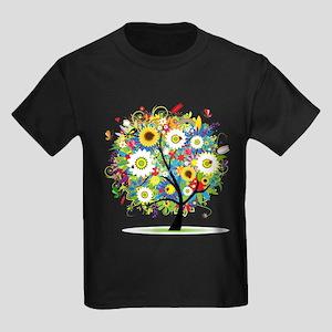 summer tree Kids Dark T-Shirt