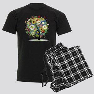 summer tree Men's Dark Pajamas