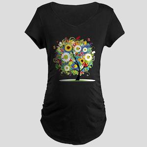 summer tree Maternity Dark T-Shirt