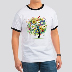 summer tree Ringer T