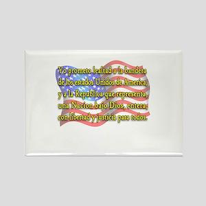 Pledge of Allegiance in Spanish Rectangle Magnet
