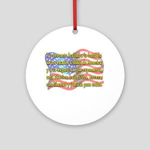 Pledge of Allegiance in Spanish Ornament (Round)