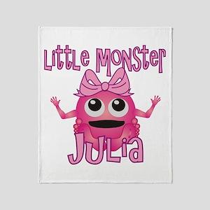 Little Monster Julia Throw Blanket