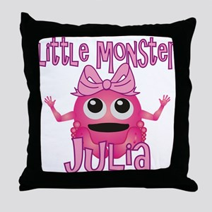 Little Monster Julia Throw Pillow