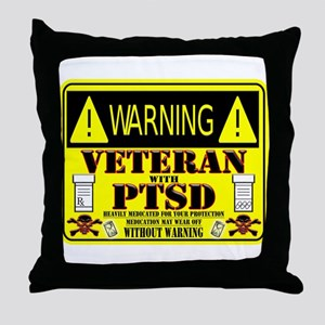 PTSD Medicated Veteran Throw Pillow