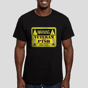 PTSD Medicated Veteran Men's Fitted T-Shirt (dark)