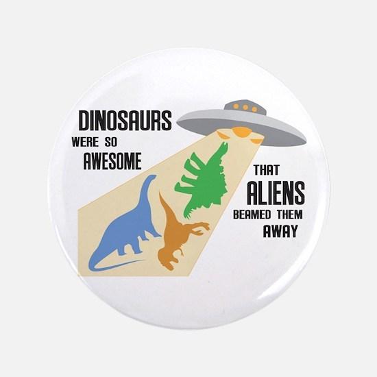 "Funny Stegosaurus 3.5"" Button"