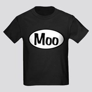 Moo Oval Kids Dark T-Shirt