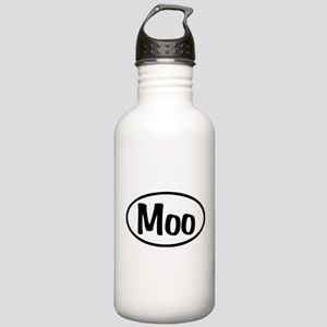 Moo Oval Stainless Water Bottle 1.0L