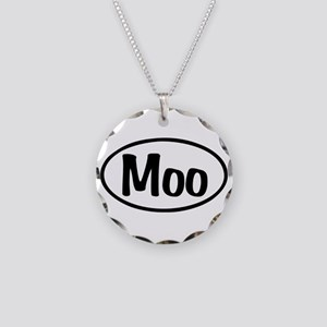 Moo Oval Necklace Circle Charm