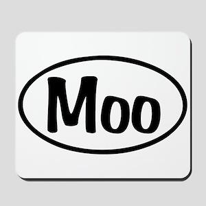 Moo Oval Mousepad