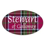 Stewart of Galloway Sticker (Oval 50 pk)