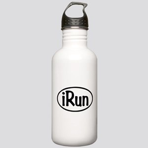 iRun Oval Stainless Water Bottle 1.0L