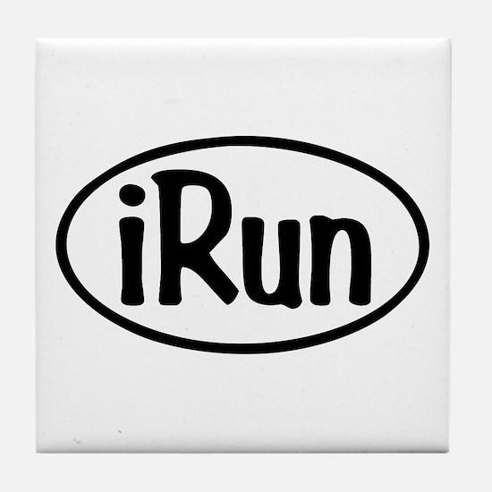 iRun Oval Tile Coaster