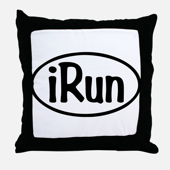 iRun Oval Throw Pillow