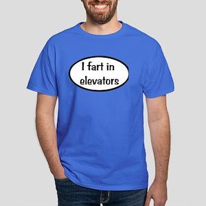 iFart in Elevators Oval Dark T-Shirt