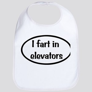 iFart in Elevators Oval Bib
