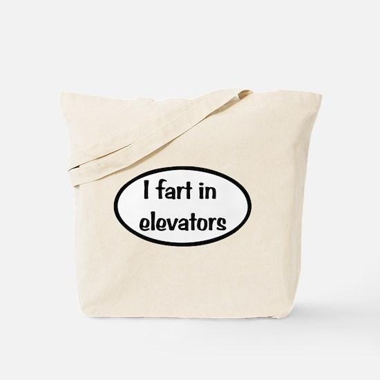 iFart in Elevators Oval Tote Bag