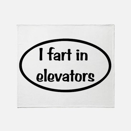 iFart in Elevators Oval Throw Blanket