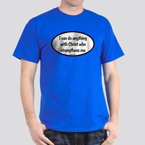 I can do anything Oval Dark T-Shirt