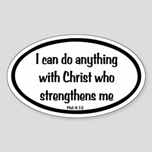 I can do anything Oval Sticker (Oval)