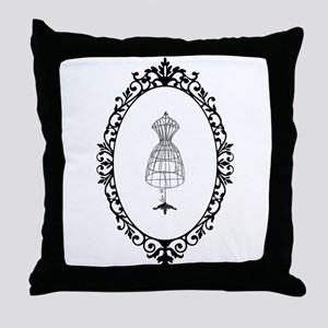 Vintage tailor's Model - Throw Pillow