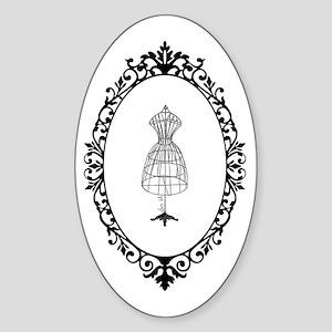 Vintage tailor's Model - Sticker (Oval)