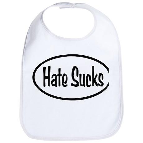 Hate Sucks Oval Bib