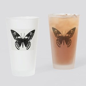 Stippled Butterfly Drinking Glass
