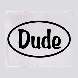 Dude Oval Throw Blanket