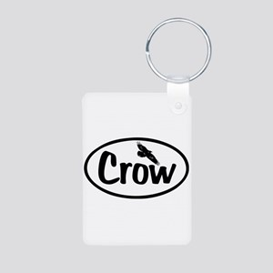 Crow Oval Aluminum Photo Keychain