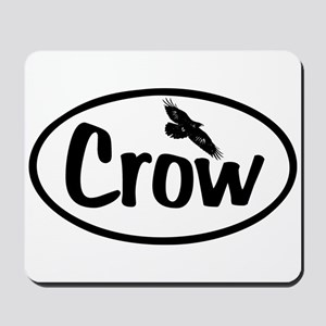 Crow Oval Mousepad