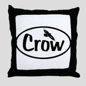 Crow Oval Throw Pillow